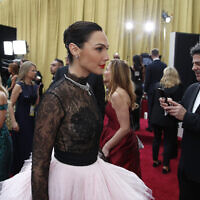 Gal Gadot arrives at the Oscars on February 9, 2020, at the Dolby Theatre in Los Angeles. (AP Photo/John Locher)