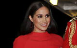 Meghan Markle arrives at the Royal Albert Hall in London, to attend the Mountbatten Festival of Music, March 7, 2020. (Simon Dawson/Pool via AP, File)