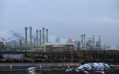 FILE - This Jan. 15, 2011 file photo shows the heavy water nuclear facility near Arak, Iran. (AP Photo/ISNA, Hamid Foroutan, File)
