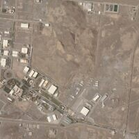This satellite photo from Planet Labs Inc. shows Iran's Natanz nuclear facility on April 7, 2021 (Planet Labs Inc. via AP)