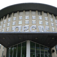 The headquarters of the Organisation for the Prohibition of Chemical Weapons (OPCW), The Hague, Netherlands, May 5, 2017. (Peter Dejong/AP)