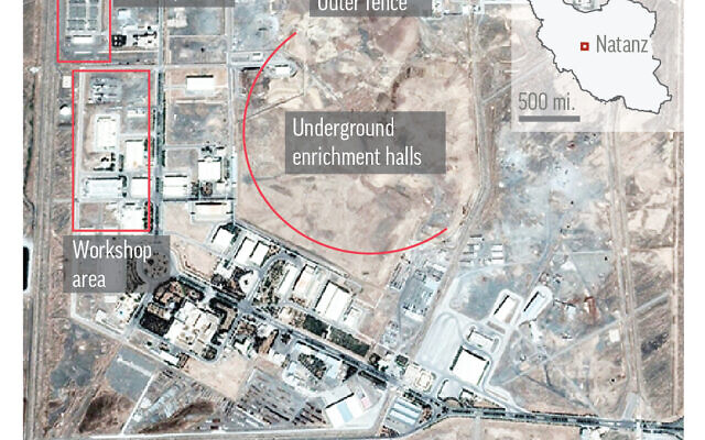 Natanz, in Iran's central Isfahan province, hosts the country's main uranium enrichment facility. (AP)