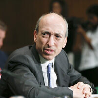 In this July 30, 2013 file photo, then-Commodity Futures Trading Commission (CFTC) Chairman Gary Gensler testifies on Capitol Hill in Washington. (AP Photo/J. Scott Applewhite)