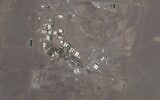 This satellite photo provided from Planet Labs Inc. shows Iran's Natanz nuclear facility on Wednesday, April 14, 2021. Iran began enriching uranium Friday, April 16, 2021, to its highest level ever at Natanz, edging closer to weapons-grade levels to pressure talks in Vienna aimed at restoring its nuclear deal with world powers after an attack on the site. (Planet Labs via AP)
