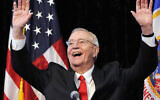 In an Oct. 30, 2012, file photo, former Vice President Walter Mondale, a former Minnesota senator, gestures while speaking at a Students for Obama rally at the University of Minnesota's McNamara Alumni Center in Minneapolis. (AP/Jim Mone, File)