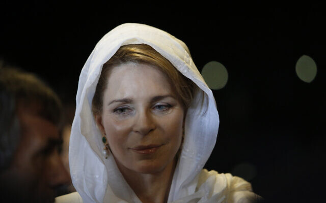 Queen Noor of Jordan attends a ceremony in Bosnia and Herzegovina, July 11, 2015. (Amel Emric/AP)