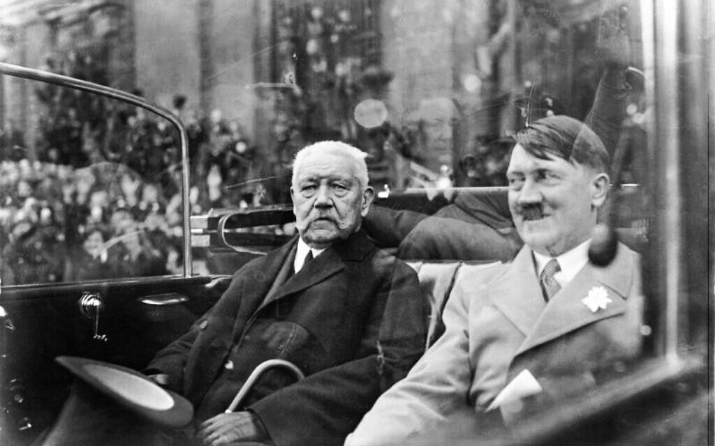 President Paul von Hindenburg and Adolf Hitler in 1933. (Bundesarchiv bild/via Wikimedia Commons)