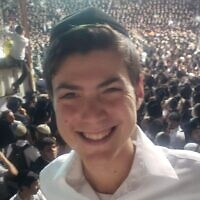 Donny Morris, 19, of New Jersey, one of 45 people killed in the crush on Mount Meron during Lag B'Omer celebrations. (Courtesy)