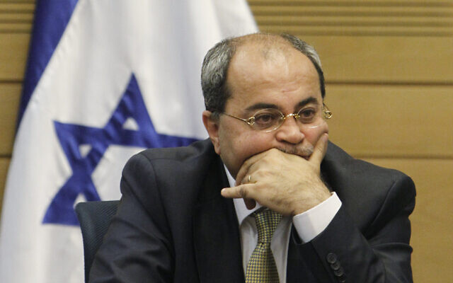 Joint Arab List MK Ahmed Tibi attends a meeting in the Knesset, March 11, 2014. (Miriam Alster/Flash90)