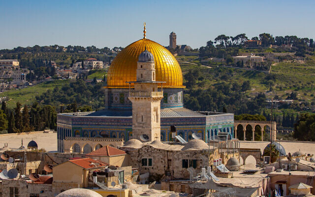 A view of the Dome of the Rock and the Temple Mount in Jerusalem's Old City, March 29, 2021. (Olivier Fitoussi/Flash90)