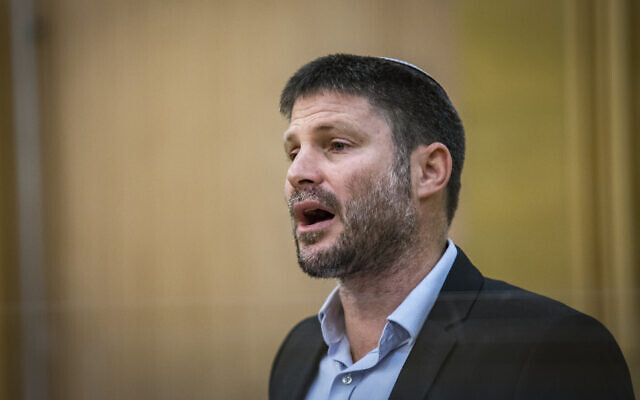 Religious Zionism leader Bezalel Smotrich at the Knesset in Jerusalem, on April 4, 2021. (Olivier FItoussi/Flash90)