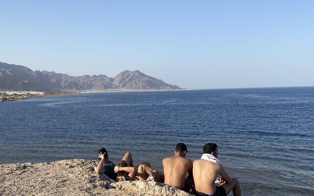 Ras Sheitan in the Sinai Peninsula, Egypt on April 5, 2021. (Jacob Magid/Times of Israel)