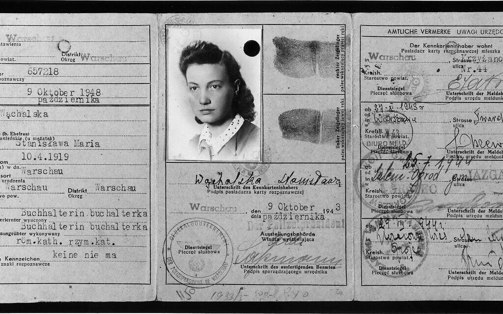 Fałszywa karta identyfikacyjna Vladki Meed, wydana na nazwisko Stanisława Wąchalska, 1943 r. (United States Holocaust Memorial Museum, dzięki uprzejmości Benjamina [Międzyrzeckiego] Meeda)
