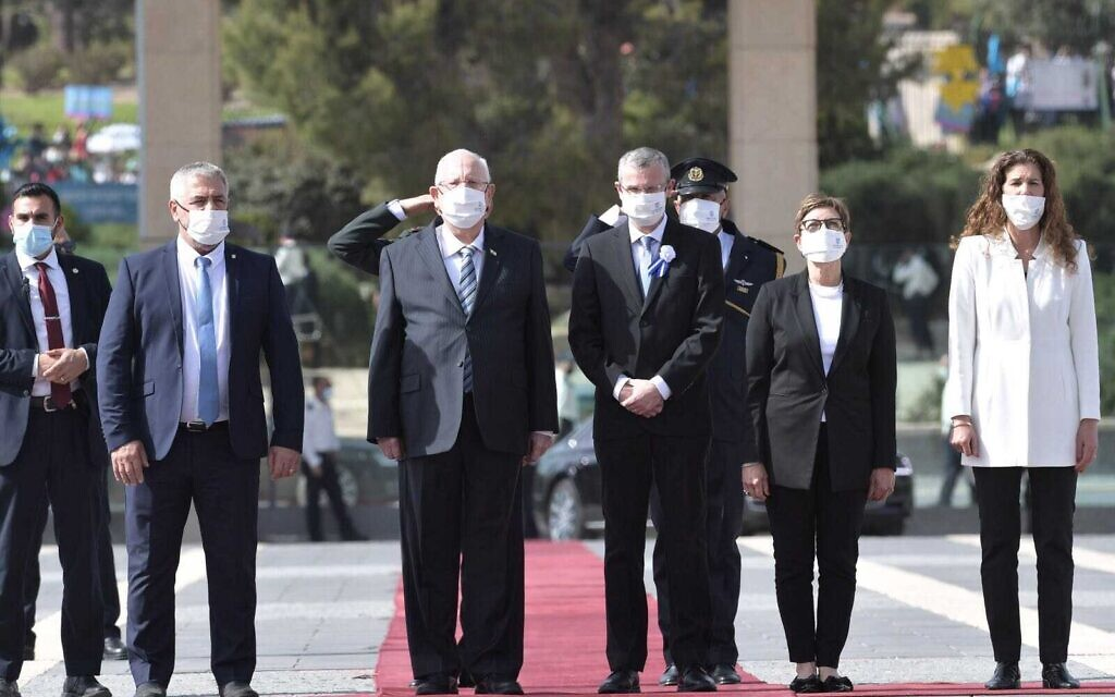 President Reuven Rivlin arrives at the Knesset for the inauguration on April 6, 2021 (Koby Gideon/GPO)