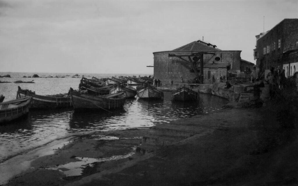 Jaffa Port, circa 1921-1926. (Courtesy of Nazarian Library, University of Haifa)