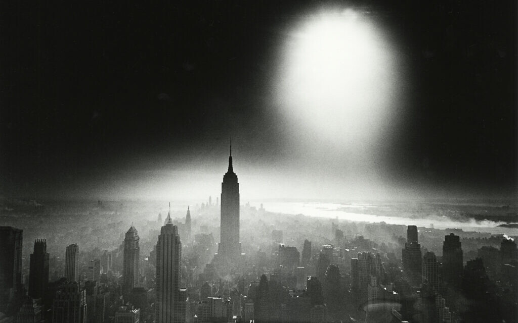 'Atom Bomb Sky,' 1955, by William Klein. (Howard Greenberg Gallery/ William Klein/ The Jewish Museum)
