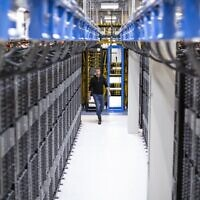 An illustrative image of a Microsoft data center (Courtesy)