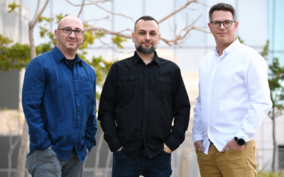 Left to right: Dima Kagan, Eugene Geht, and Amit Israel, founders of Cyberfish (Courtesy)