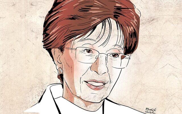 An illustration of Sarah Halimi. (Courtesy of the Combat Anti-Semitism Movement.)