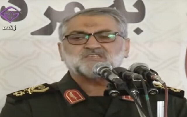 Iranian Brig. Gen. Abolfazl Shekarchi (Screen capture: YouTube)