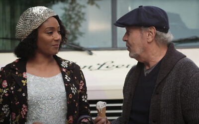 "Tiffany Haddish and Billy Crystal in a trailer for the new movie ""Here Today."" (Screen capture: YouTube)"
