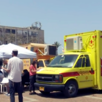 Hundreds of Israelis line up to donate blood following the deadly Mt Meron stampede, on April 30, 2021. (Screenshot: Channel 12)