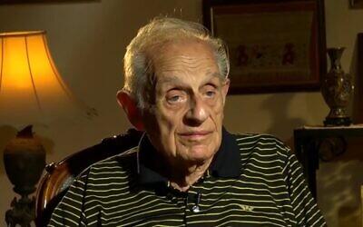 Albert Arie, an Egyptian with Jewish roots, in October 2020. (Screenshot: Facebook/Al-Arabiya)