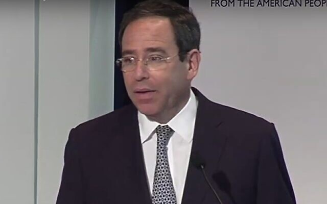 Deputy US Secretary of State for Management and Resources Thomas Nides speaks at a USAID conference in June 2012. (Screen capture/YouTube)