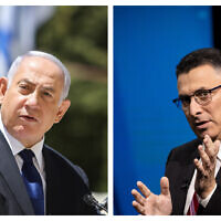 Prime Minister Benjamin Netanyahu (L) and New Hope leader Gideon Sa'ar (R). (Flash90)