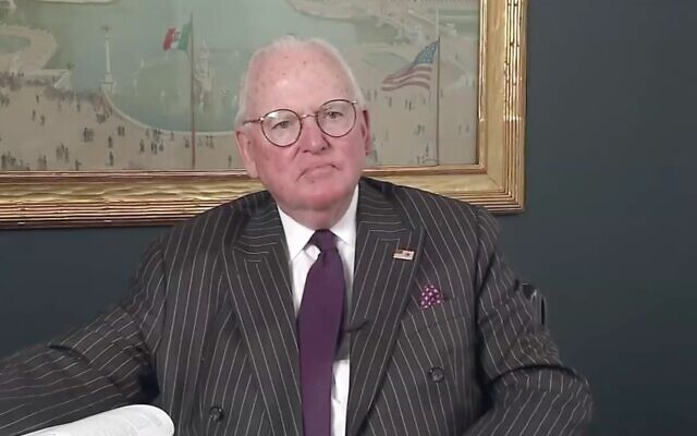 Chicago Alderman Ed Burke, shown here in 2018, is on trial for corruption. (Screen shot from YouTube via JTA)