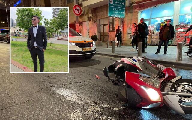 Itamar Hillman 21,(insert) was killed in a traffic accident in Jerusalem on April 13, 2021. (United Hatzala Spokesperson)