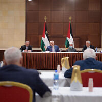 Palestinian Authority President Mahmoud Abbas announces that the PA legislative elections will be indefinitely delayed on Thursday, April 29, 2021 (Credit: WAFA/Tha'ir Ghanayem)