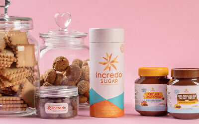 Products and Hazelnut spreads developed with the Incredo Sugar developed by DouxMatok (Courtesy)