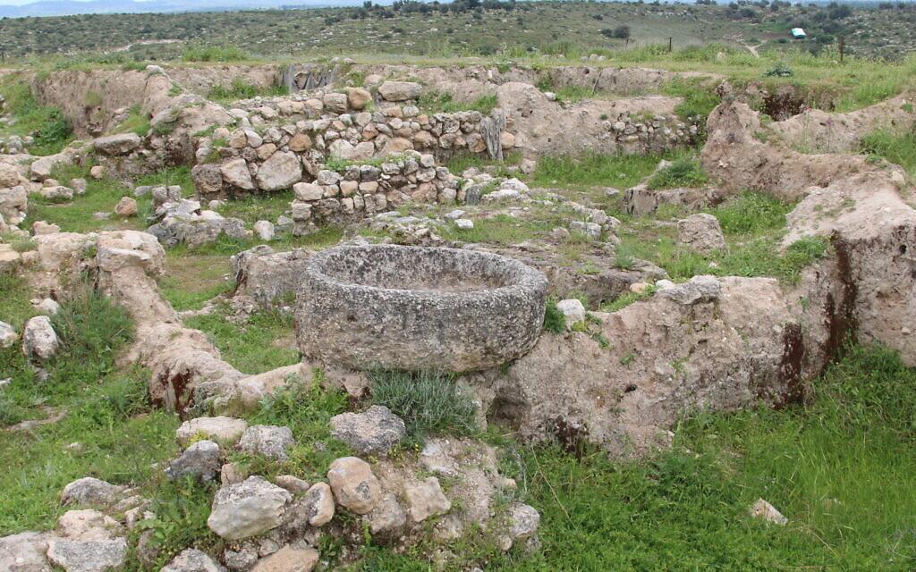 Excavations taking place at Tel Tzafit. (Shmuel Bar-Am)