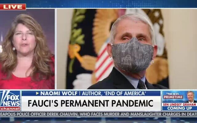 Naomi Wolf appears on Fox News, April 19, 2021. (Screenshot)
