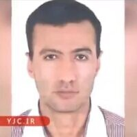 A passport-style photo published by Iranian state television shows Reza Karimi, 43, whom Tehran says was behind the sabotage at Natanz on April 11 that it has blamed on Israel (video screenshot)