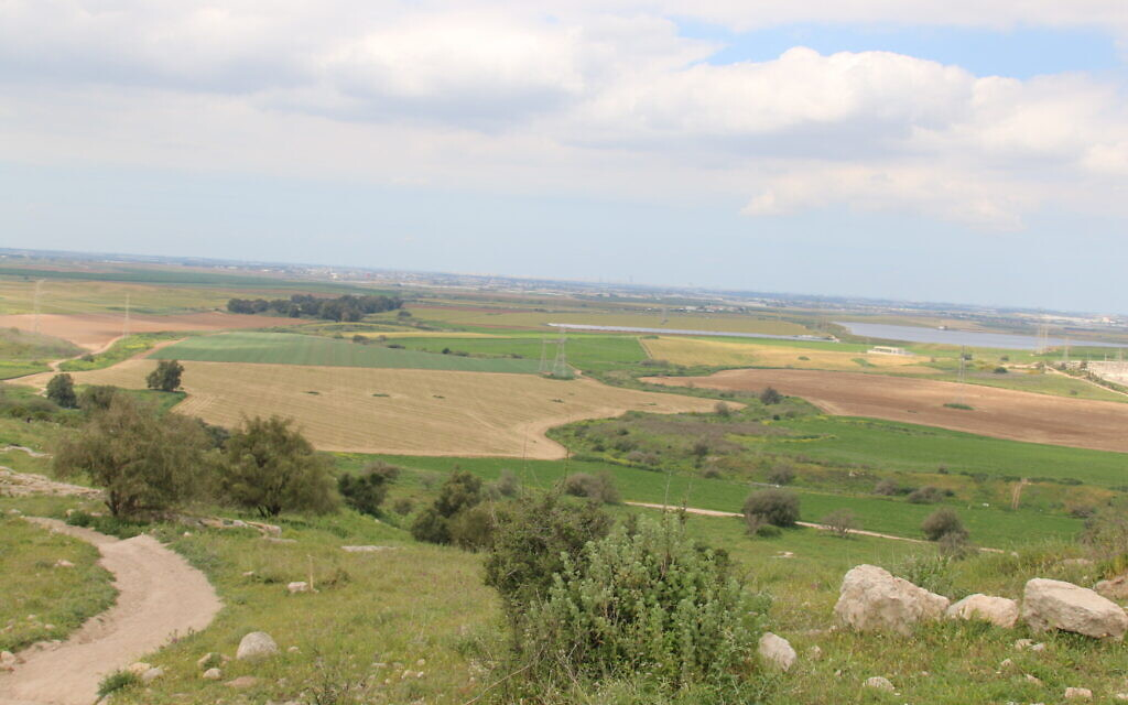 The view from the top of Tel Tzafit. (Shmuel Bar-Am)