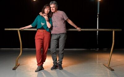 Daniel Kolben with her father, famed choreographer and dancer Amir Kolben, ahead of their new work for the Israel Festival, being performed June 9, 2021 (Courtesy Relly Avrahami)