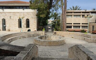 One of the open-air locations in the city of Lod that was to house part of the Zumu community-based mobile museum exhibit, scheduled to open on May 18, 2021, but postponed due to unrest and violence in the mixed Arab and Jewish city (Courtesy Zumu)
