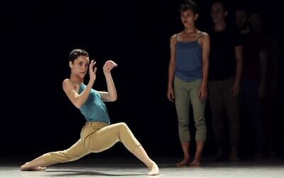 From Deca Dance, outdoor performances by Batsheva Dance Company's youth ensemble at Tel Aviv's Ganei Yehoshua park at the end of May 2021 (Courtesy Askaf)