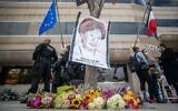 A memorial made by the Jewish community is seen in front of the Consulate General of France on April 25, 2021 in Los Angeles, California to demand justice for Sarah Halimi (Apu GOMES / AFP)