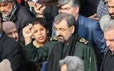File: Iranian former chief of the Revolutionary Guards Mohsen Rezai takes part in an anti-US demonstration in the capital Tehran, January 3, 2020, following the killing of Iranian Revolutionary Guards Major General Qasem Soleimani in a US strike on his convoy at Baghdad international airport. (Photo by ATTA KENARE / AFP)
