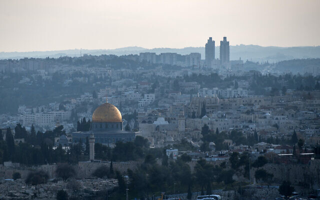 Jersualem, seen from the east, with the Temple Mount (Haram al-Sharif) in the foreground. (Flickr)