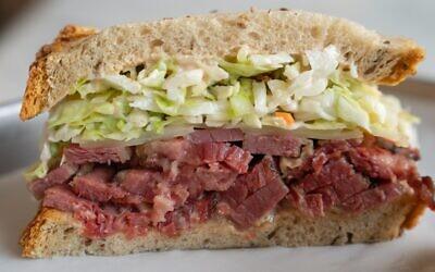 A sandwich from Daughter's Deli in los Angeles. (Courtesy/ via JTA)