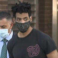 Jordan Burnette, the suspect in a series of synagogue attacks in the Riverdale section of the Bronx on May 3, 2021. (Screen capture/WCBS-2)