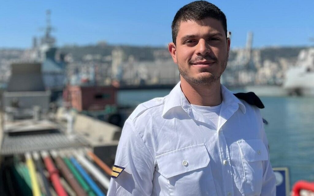Thiago Benzecry is now in the Israeli navy. (Courtesy of Benzecry/ via JTA)
