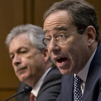 US Deputy Secretary of State Thomas Nides, right, and Deputy Secretary of State William Burns testify at a Senate Foreign Relations Committee on December 20, 2012. (AP/J. Scott Applewhite)