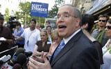 In this July 8, 2013 file photo, Manhattan Borough President Scott Stringer addresses the media at a news conference in New York (AP Photo/Richard Drew, File)