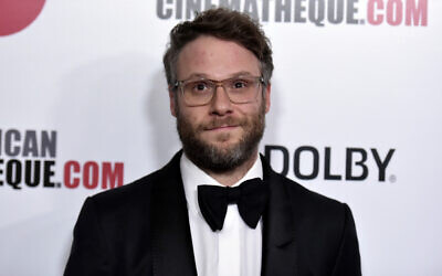 Seth Rogen arrives at the 33rd American Cinematheque Award honoring Charlize Theron in Beverly Hills, California, on  Nov. 8, 2019.  (Richard Shotwell/Invision/AP)