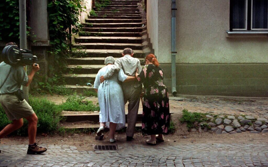 Renée Firestone returns to her childhood home in Uzhorod, Ukraine, formerly Hungary in the 1998 documentary 'The Last Days.' (Courtesy)